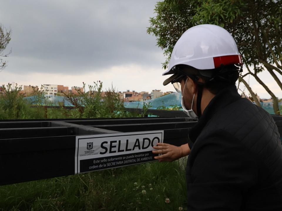 Obras en el humedal Jaboque fueron selladas por la Secretaría de Ambiente.