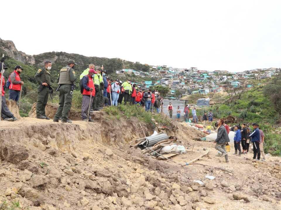 Más de diez entidades distritales participaron en un reciente operativo en el parque Entrenubes. Imagen: Comunicaciones Secretaría de Ambiente.