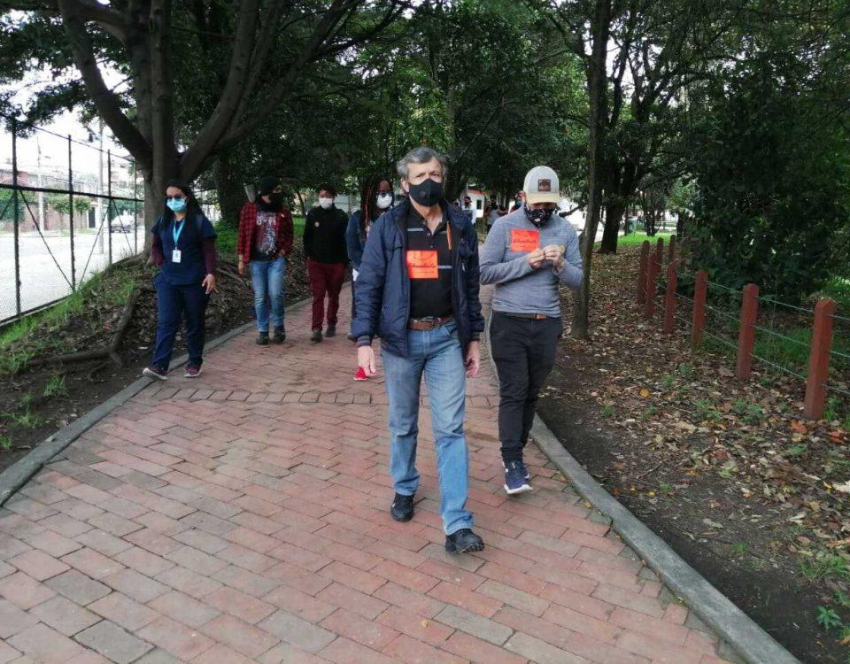 """En el humedal Santa María del Lago se ubicaron cinco estaciones para el """"Recorrido por la VIHDA"""". Foto: Comunicaciones, Secretaría de Ambiente. Foto: Comunicaciones."""