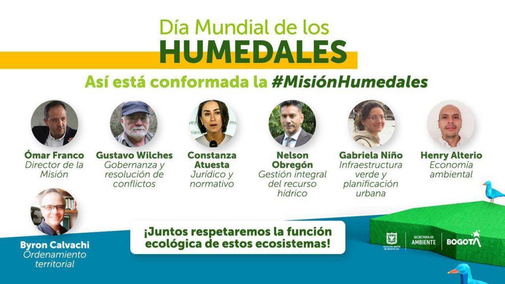 Siete expertos integrarán la Misión Humedales que trabajarán por la protección y conservación de los ecosistemas.